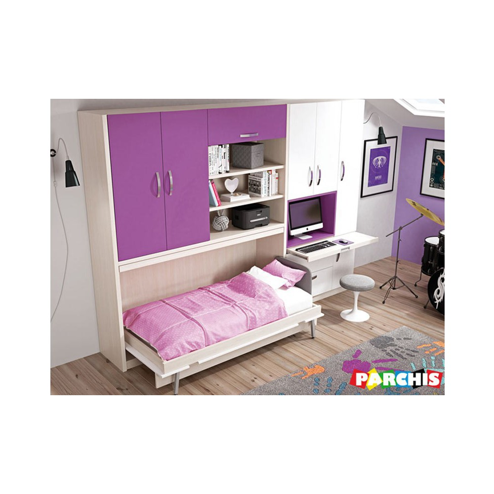 Design cama abatible horizontal ikea galer a de fotos for Ikea camas juveniles
