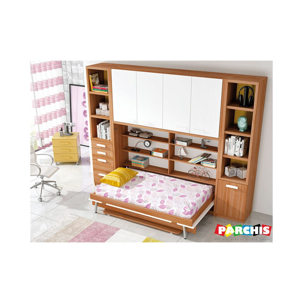 Cama abatible horizontal segurilla camas abatibles for Muebles abatibles juveniles