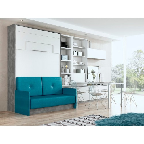 Cama Abatible Vertical Membrillo